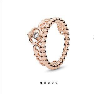 Pandora rose princess rings